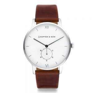 Juwelier Mayer Kapten & Son Heritage Silver Brown Leather